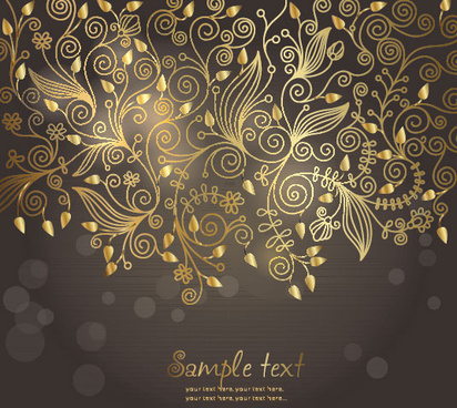european style decorative pattern background vector