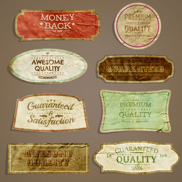 european style exquisite retro label free vector