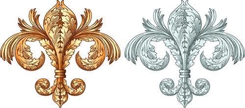 european style ornament design