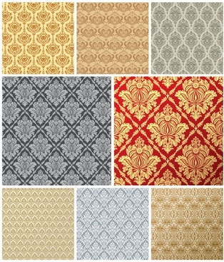 european tile pattern background vector 1