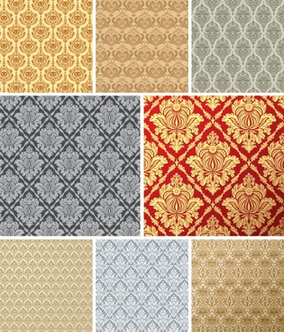 european tile pattern background vector