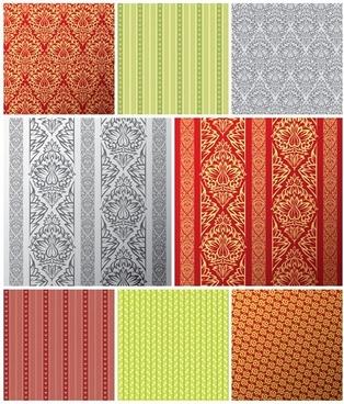 european tile pattern background vector 2
