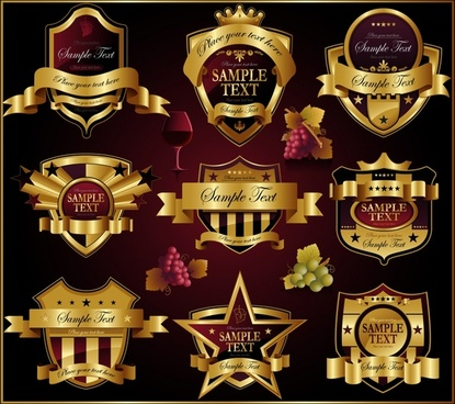 premier labels templates luxury european royal 3d decor