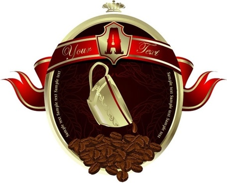 european-style coffee poster vector