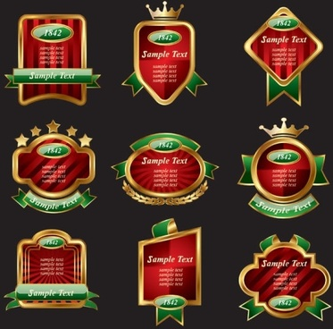 europeanstyle color label bottles affixed 02 vector