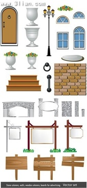 architecture design elements western style exteriors icons