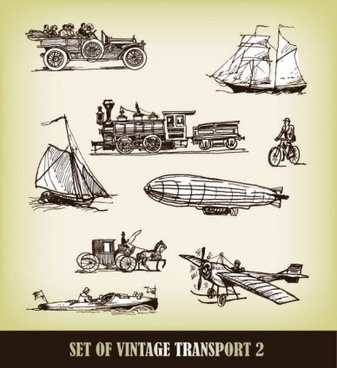 europeanstyle handdrawn transport carrier vector