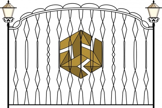iron gate template elegant european classic decor