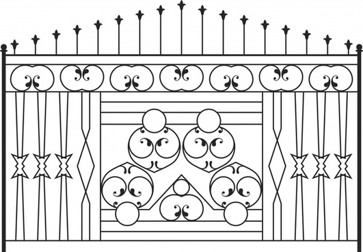 iron gate template symmetric elegant classic european decor