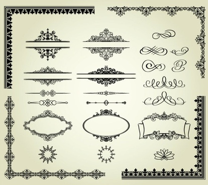 europeanstyle lace pattern 03 vector