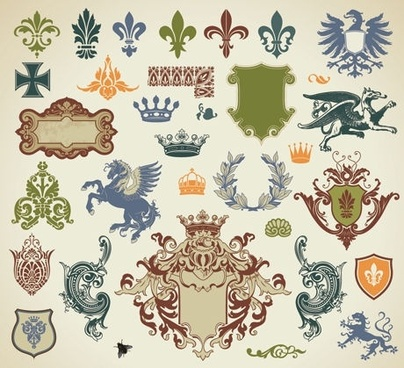 europeanstyle lace pattern vector