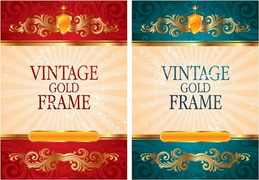 cover backdrop elegant golden design vintage royal style