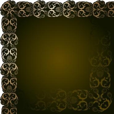 border template classical symmetrical seamless decor