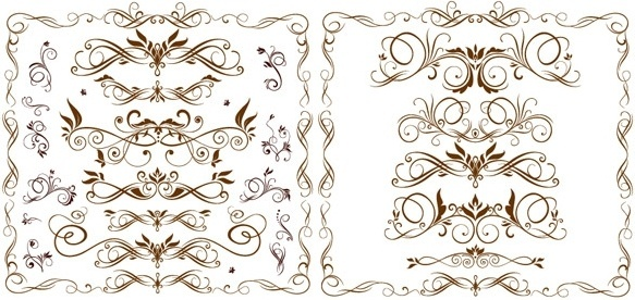 europeanstyle lace pattern vector fashion