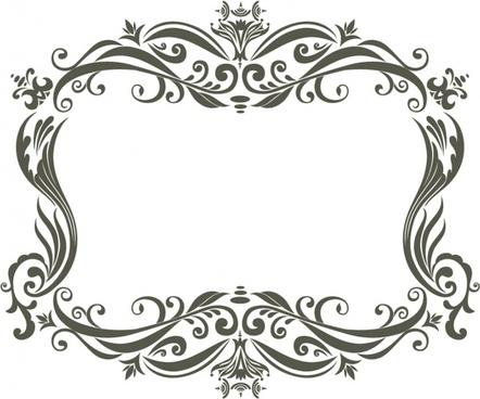 decorative frame template elegant classic european symmetric curves