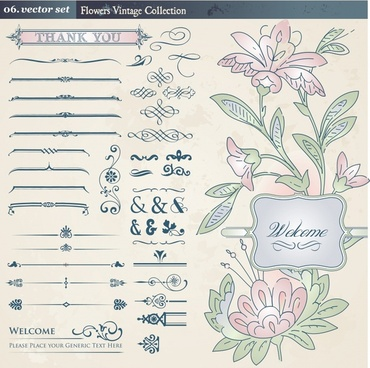 europeanstyle lace pattern vector retro floral