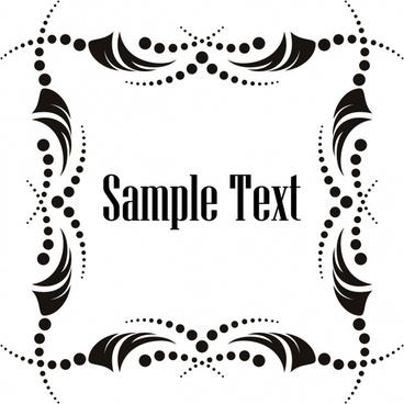 border template classical black white symmetric decor