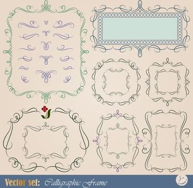 border decorative templates elegant european symmetric curves