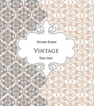 decorative cover template elegant vintage decor flat symmetric