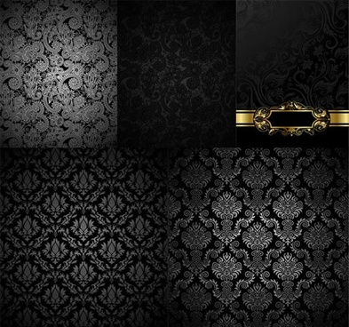 decorative pattern templates dark elegant luxury european