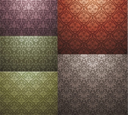 europeanstyle tiled background pattern vector
