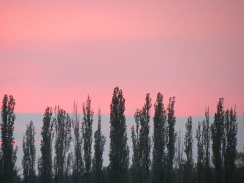 evening sky sunset afterglow