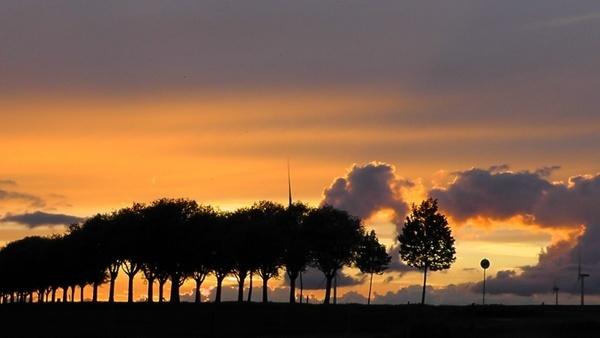 evening sunset landscapes