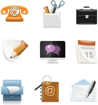 Everyday common icons 04 vector