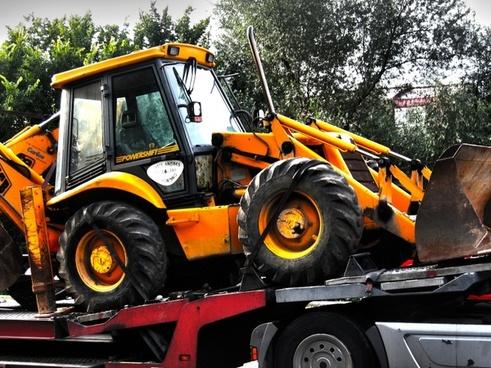 excavators shovel truck