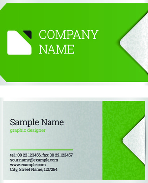 excellent business cards design vectors