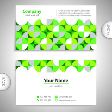 excellent business cards front back template vector