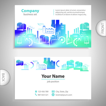 Free business card coreldraw cdr template free vector download excellent business cards front back template vector fbccfo Images