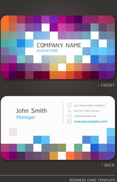 excellent modern business card vector