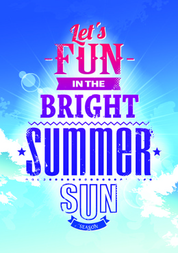 excellent summer party flyer design elements