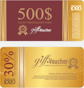 excellent voucher template vector design