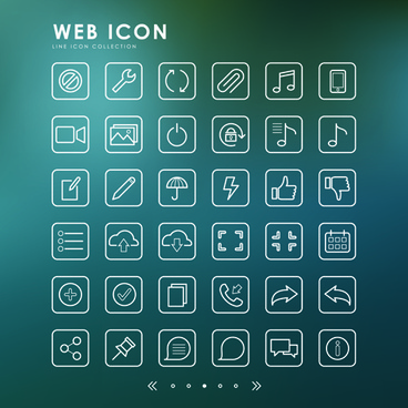 excellent web outline icons vectors