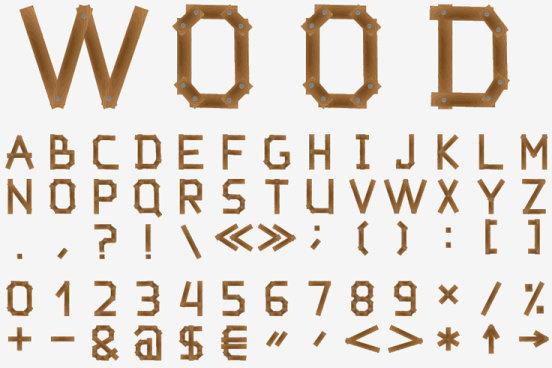 excellent wooden alphabet design vector