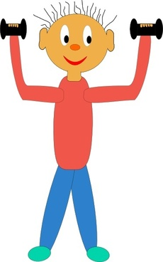 Exercising With Dumbbells clip art