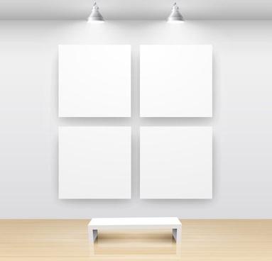 exhibition gallery template vector 1
