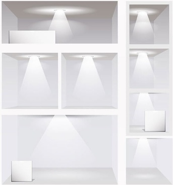 gallery light template modern bright 3d sketch