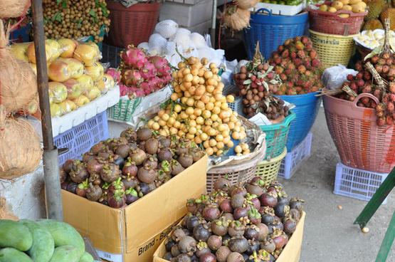 exotic tropical fruit rambutan logan