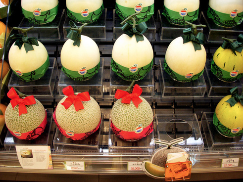 expensive melon together with decoration