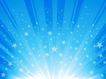 star burst background blue sparkling rays decoration