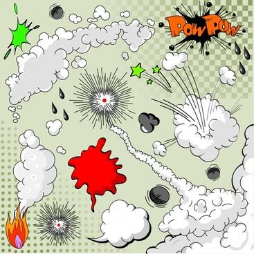 explosion explosion explosion cloud vector dialog box