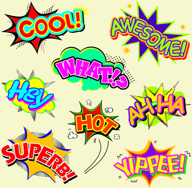 explosion style speech bubbles vector