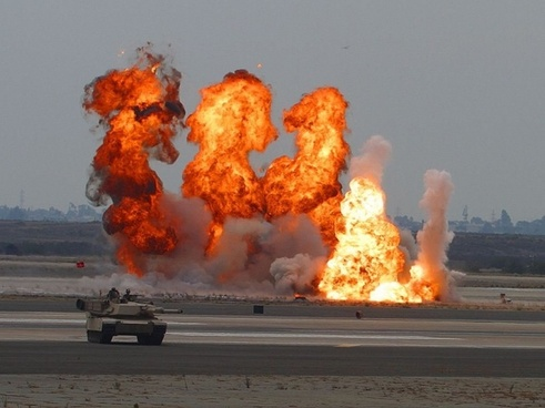 explosions panzer exercise