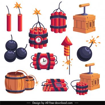 explosive icons bomb firework cordite tnt sketch