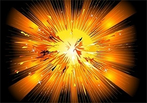 explosive style vector background