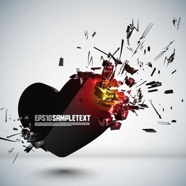 explosive threedimensional graphics 03 vector