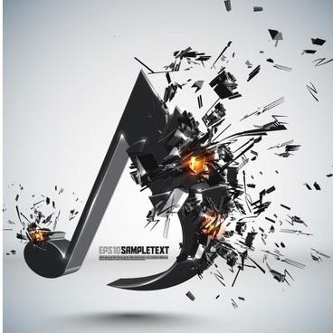explosive threedimensional graphics 05 vector